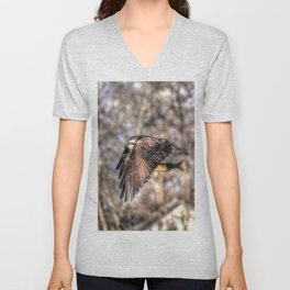 Osprey with Prey  Unisex V-Neck