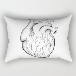 dotwork heart Rectangular Pillow