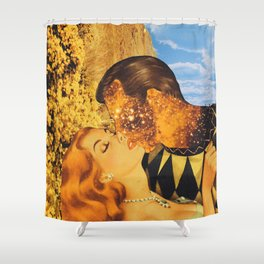 Implosion  Shower Curtain