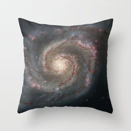 Bright spiral nebula galaxy stars hipster geek cool space star nebulae NASA photo sci-fi landscape Throw Pillow