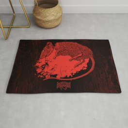 Decapitated by dishwasher III (red) Rug