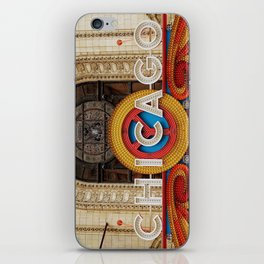 Chicago letters iPhone Skin