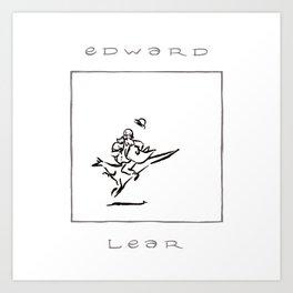 Edward Lear, a portrait. Art Print
