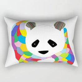 Patchwork Panda Rectangular Pillow
