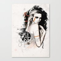 supreme Canvas Prints featuring Supreme by Bungo Design