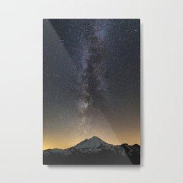 Milky Way over Mt. Baker Metal Print