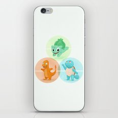 Poké: choose your starter iPhone & iPod Skin