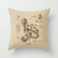 catcher in the rye Throw Pillows featuring Moment Catcher by Enkel Dika