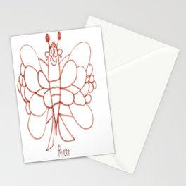 Lady Butterfly Stationery Cards