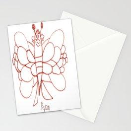 Lady Butterfly Stationery Cards