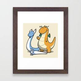 Pokémon - Number 147, 148 and 149 Framed Art Print