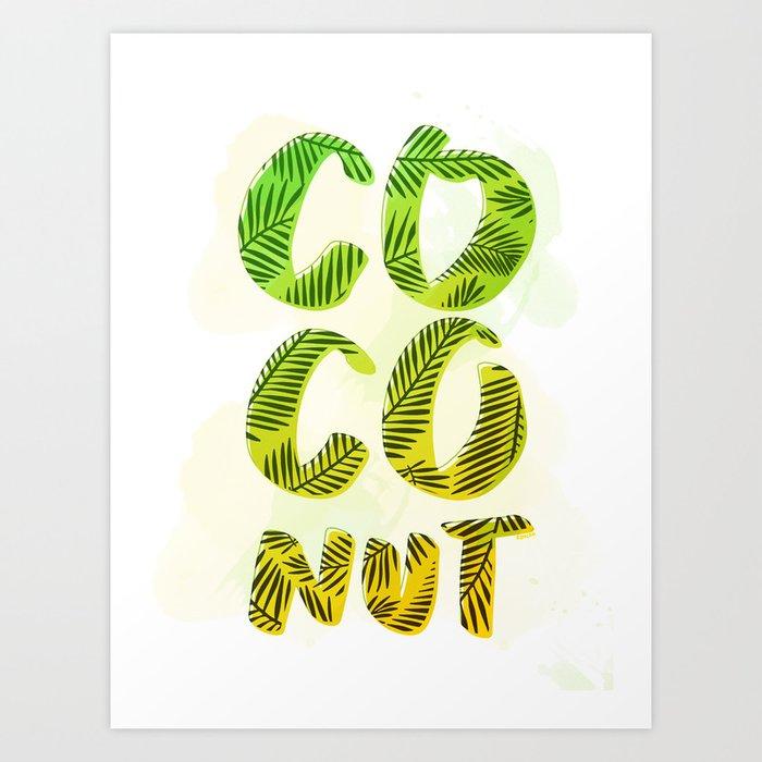 Coconut - Green Palette Art Print