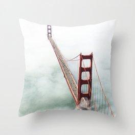 golden gate bridge in san francisco Throw Pillow