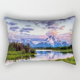 Wyoming, Grand Teton National Park Rectangular Pillow