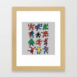 Keith Superheroes Framed Art Print