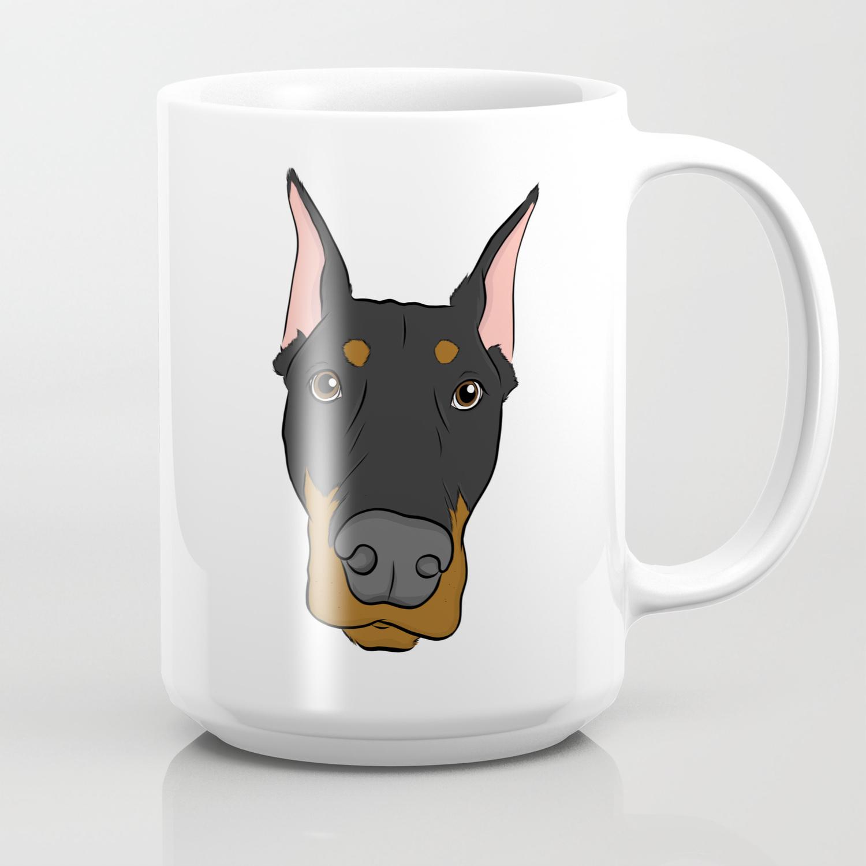 Doberman Coffee Mug By Rachelbarrett Society6