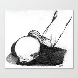 Homme En Noir Au Sol Canvas Print