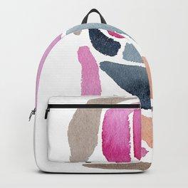 Pink, Purple & Blue Minimal Figure Backpack