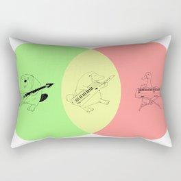 Keytar Platypus Venn Diagram - GYR Rectangular Pillow