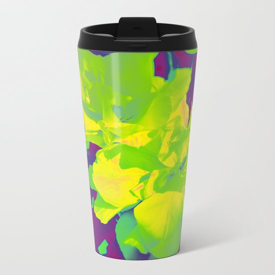 Eccentric Flowers Metal Travel Mug