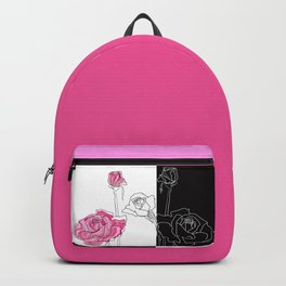 Roses - positive and negative Backpack