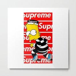 Bart Simpson Supreme new 2018 fun laugh jail Metal Print