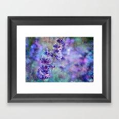 Lavender Grunge Framed Art Print