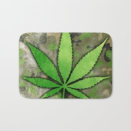 Weed Leaf Bath Mat
