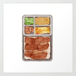 Japanese Beef Bento | 牛肉便当 Art Print