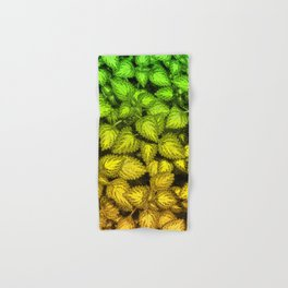 Lovely Leaves, in Green and Gold Hand & Bath Towel