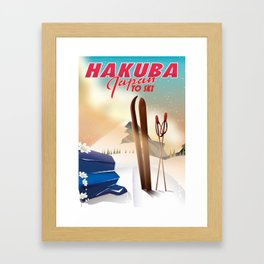 Hakuba Japan travel poster Framed Art Print