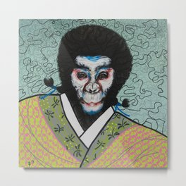 Kabuki face paint Metal Print