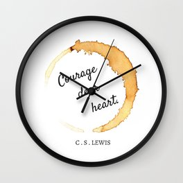 COURAGE DEAR HEART // C.S. LEWIS  Wall Clock
