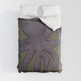 Hello Purple Octopus Comforters