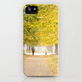 Walking under the trees in Autumn I iPhone Case