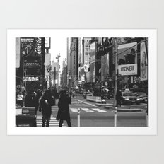 Let my imagination go (B&W) Art Print