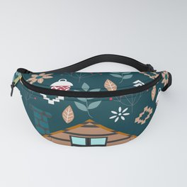 Winter cottage Fanny Pack