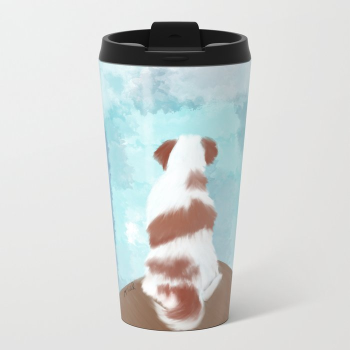 Deschutes The Brittany Spaniel Metal Travel Mug