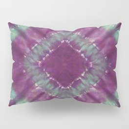 Purple and Green Tie Dye Diamond Pillow Sham