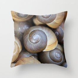 Snail Infestation Throw Pillow
