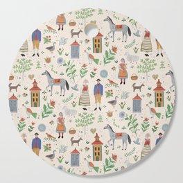 Swedish Folk Art Cutting Board