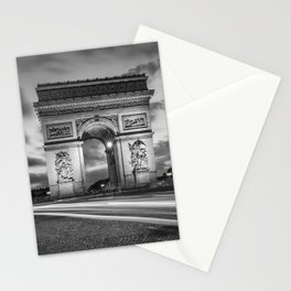 PARIS Arc de Triomphe   monochrome Stationery Cards