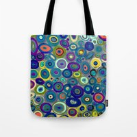 graffiti Tote Bags featuring graffiti by sylvie demers