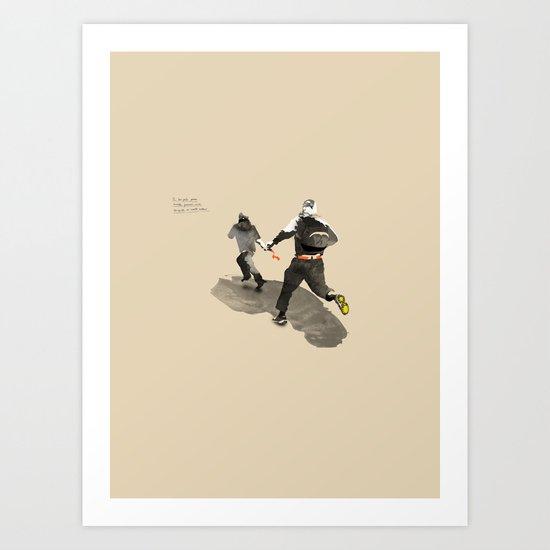 Aludd: Running Away! Art Print