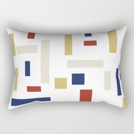Abstract Theo van Doesburg Composition VIII (White) The Three Graces Rectangular Pillow