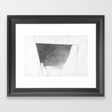 Basin Abstract Drawing Framed Art Print