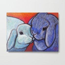 Blue Bunnylove Metal Print