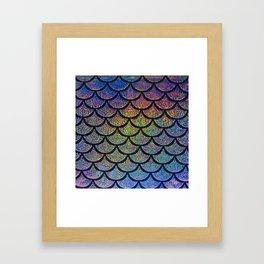 Cobalt Cantaloupe Scales Framed Art Print