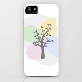 Tree and Soft Shapes iPhone Case