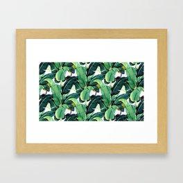 Tropical Banana leaves pattern Framed Art Print
